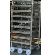 TROLLEY FOR THE MEAT CURING-PRESSING