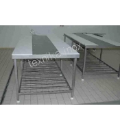 WORKBENCH FOR EMACIATION OF CARCASSES WITH 2m GRATE
