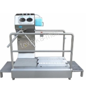 WALK-THROUGH SOLE-SCRUBBER UNIT