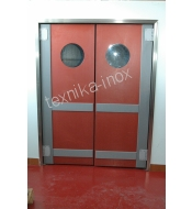 DOUBLE P.V.C DOOR WITH RETURN SYSTEM(1500X2200)